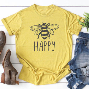 Vegan Bee Happy T-shirt