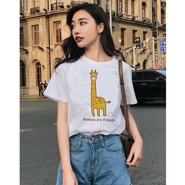 Animals Are Friends Women T Shirt