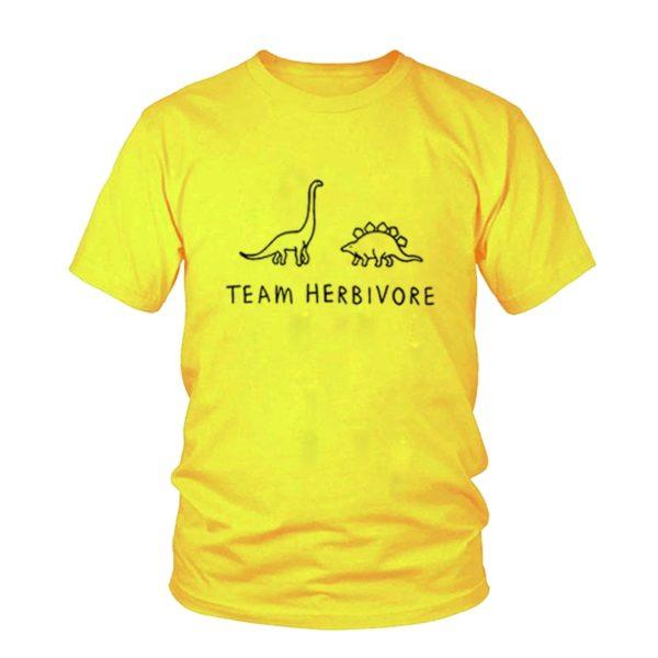 TEAM HERBIVORE Dinosaur Vegan Print T-Shirt