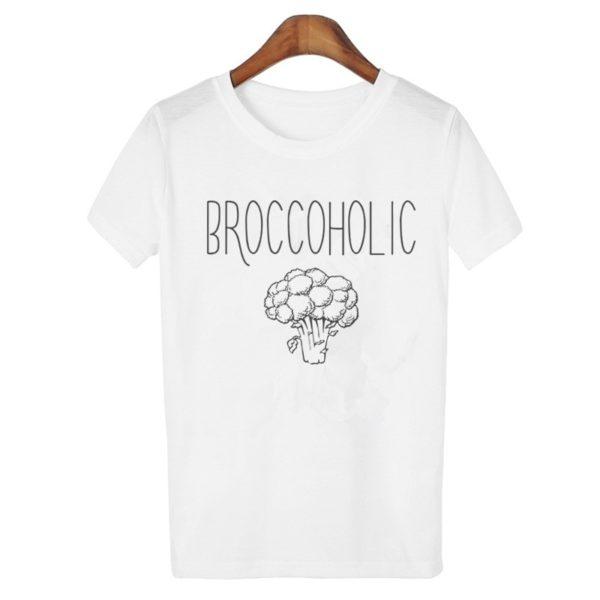 Broccoholic Vegan & Vegetarian Broccoli Lovers T-Shirt