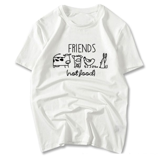 Vegan Shirt Animal Lover Statement Tee Friends Not Food Shirt