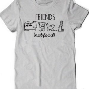 Vegan Shirt Animal Lover Statement Tee Friends Not Food Shirt