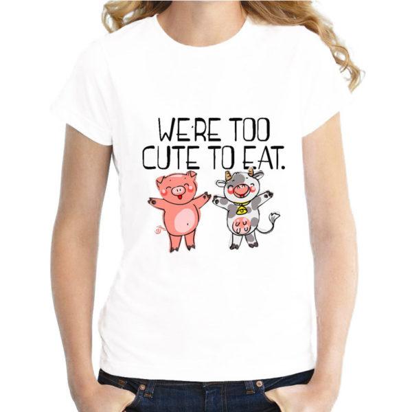 Eat Fruit not Friends Vegan T-Shirt for Women